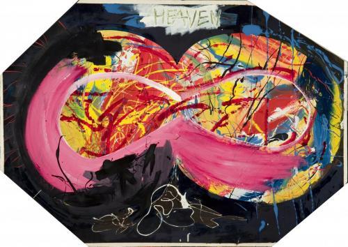 Heaven, mixed media on wood, 75x100, 2004