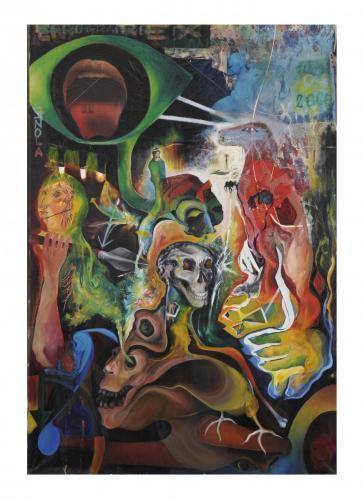 morte dell'occidente, oil on canvas, 160x120, 2004
