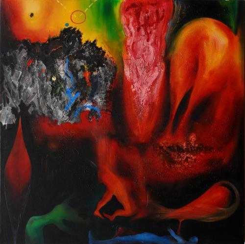 Resurrezione in Dresda, oil on canvas, 100x100, 2005