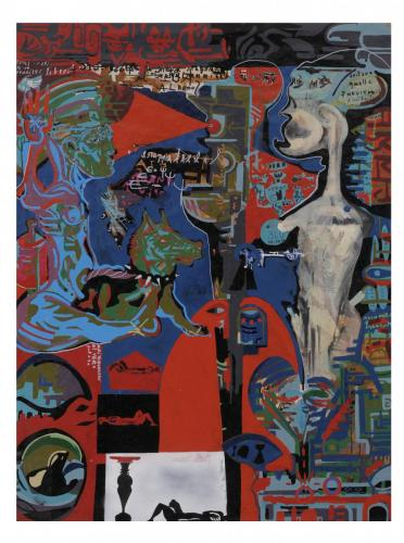Vera iniziazione, enamel on paper, 200x150, 2005