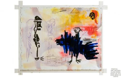 Primitive, mixed media on canvas, 106x87, 2012