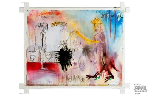 a.C=d.C., mixed media on canvas, 106x87, 2012