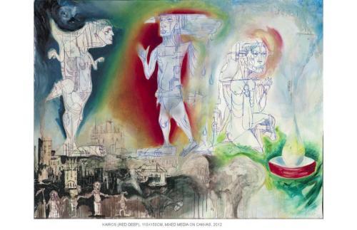Kairos, mixed media on canvas, 110x150, 2012