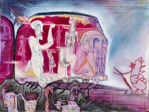 ATM, Azienda terminale mondiale, mixed media on canvas, 2012
