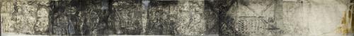 f34- Where I end and you begin, monotipo puntasecca e disegno, 400x50, 2006