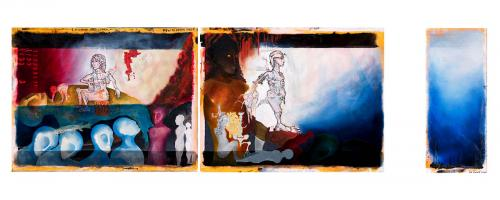How to break free from the hell, mixed media on canvas, triptych, 300x100, 2009