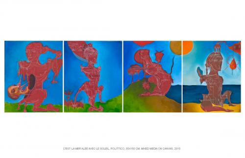 C'est la mer avec le soleil, politych, 50x150, 2010