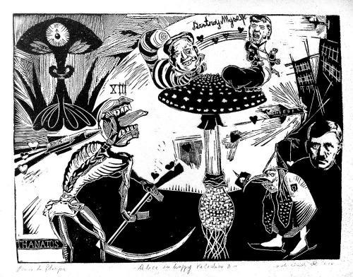 yg17b-Eros=Thanatos, Linoleumgrafia, 35x50, 2018